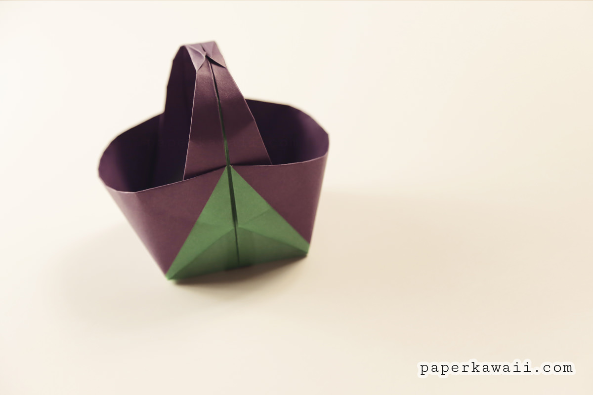ORIGAMI EASTER BUNNY BASKETS. — Gathering Beauty | 800x1200