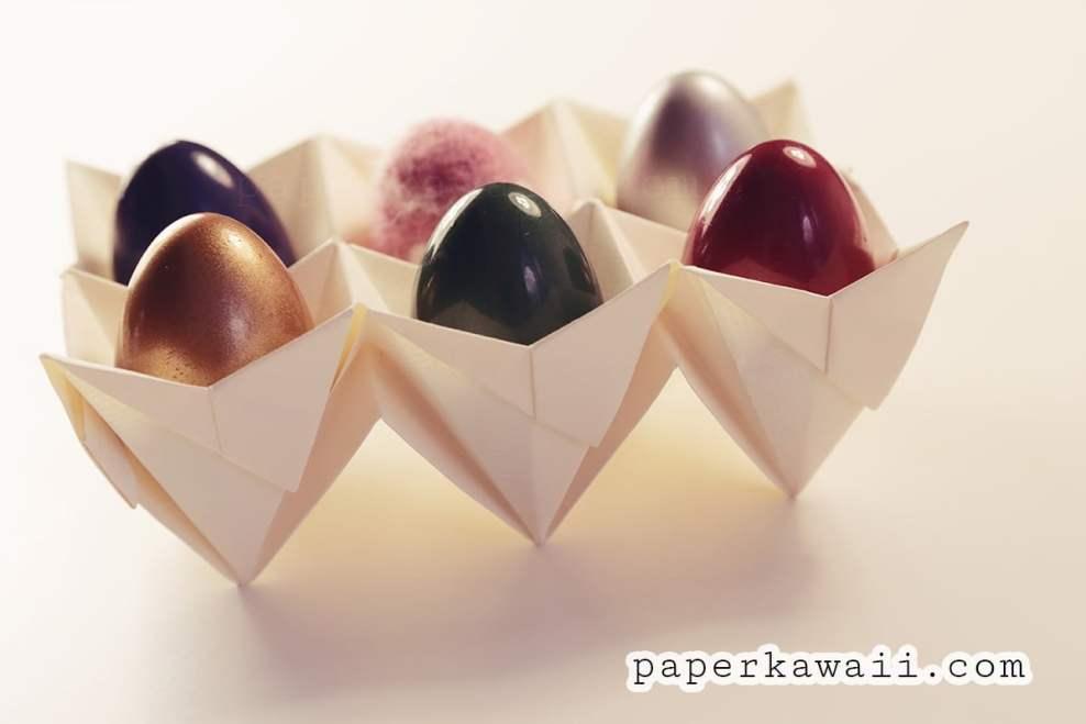 Origami Egg Box Tutorial - Easter! via @paper_kawaii