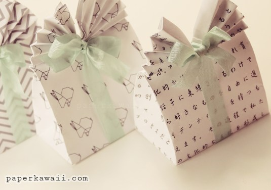 Origami Gift Bag Tutorial & Free Printable Patterns