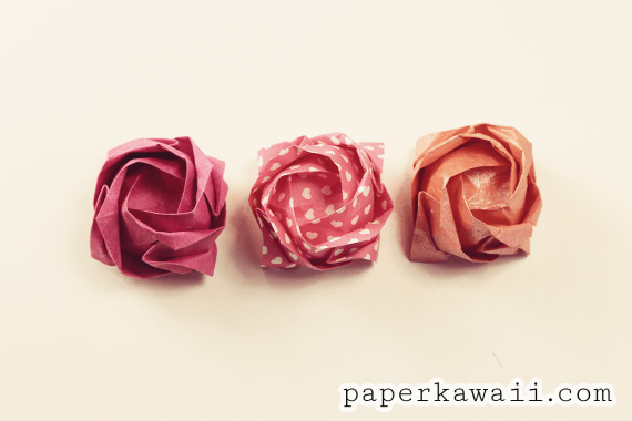 Origami Kawasaki Rose Video Tutorial via @paper_kawaii