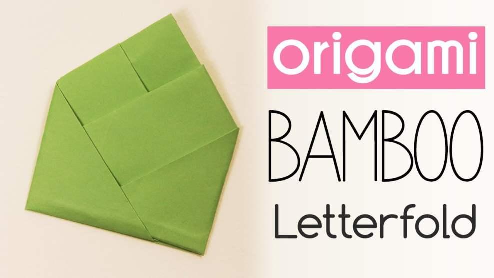Origami Bamboo Letter Fold via @paper_kawaii