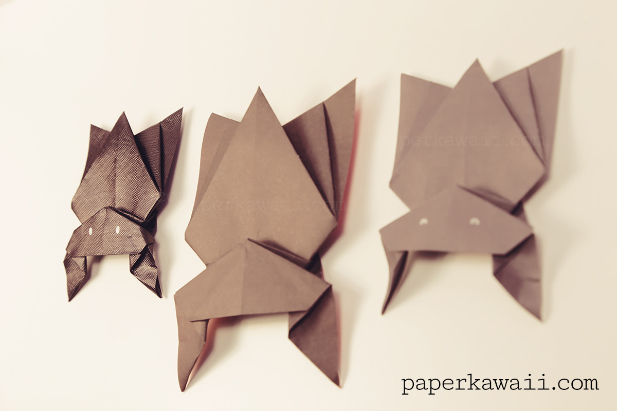 Hanging Origami Bat For Halloween Paper Kawaii