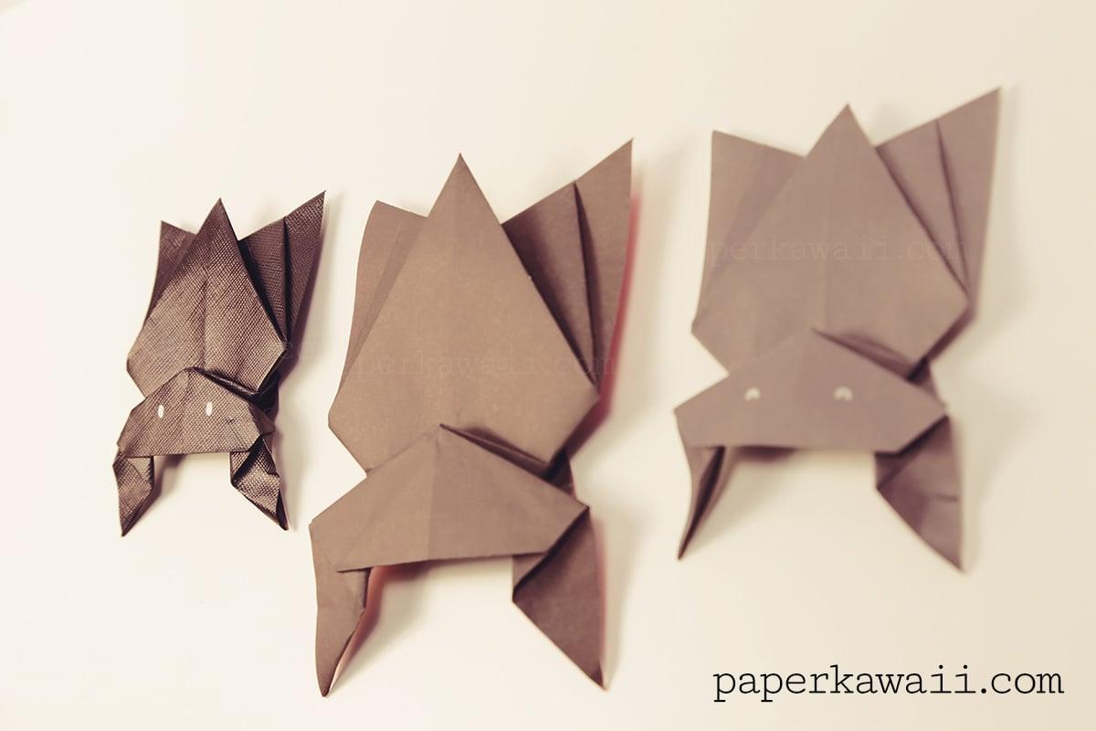 hanging origami bat for halloween