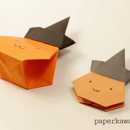 Easy Origami Broomstick Tutorial For Halloween! via @paper_kawaii