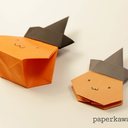 Modular Origami Cat Tutorial via @paper_kawaii