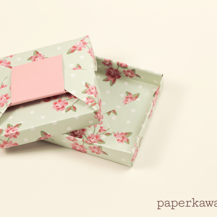 Origami Box with Lid + Ring Gift via @paper_kawaii