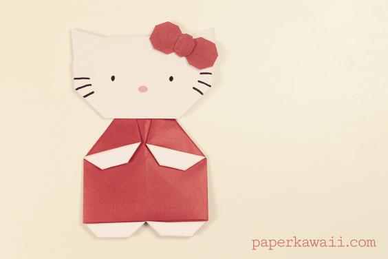 Origami Hello Kitty Video Tutorial