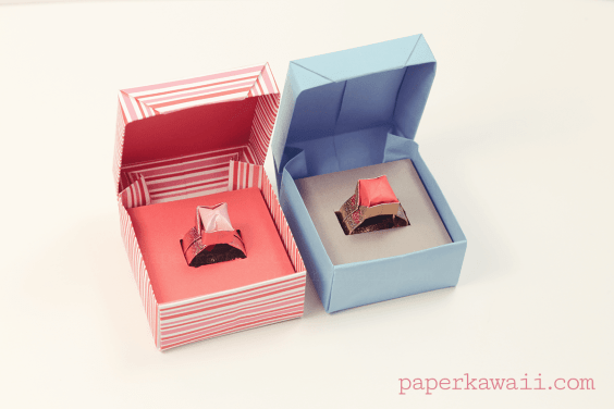 Origami Ring Box for Valentine's Day