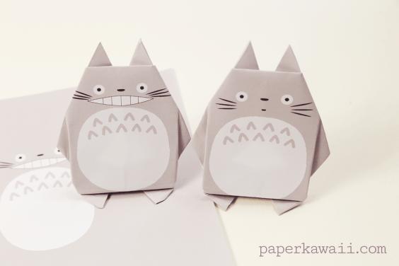 Origami Totoro Tutorial & Free Printable Paper