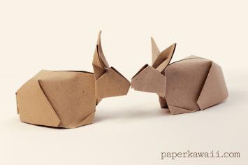 Origami Bunny Rabbit Tutorial Paper Kawaii 03