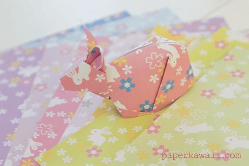 10 Free Printable Bunny Rabbit Origami Papers via @paper_kawaii