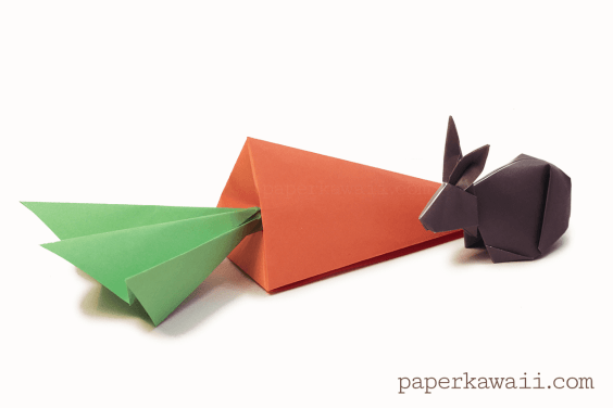Origami Carrot Box Video Tutorial