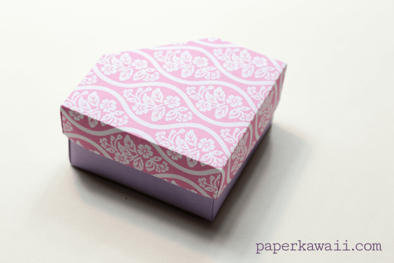 Origami Gem Box & Lid Tutorial & Diagram