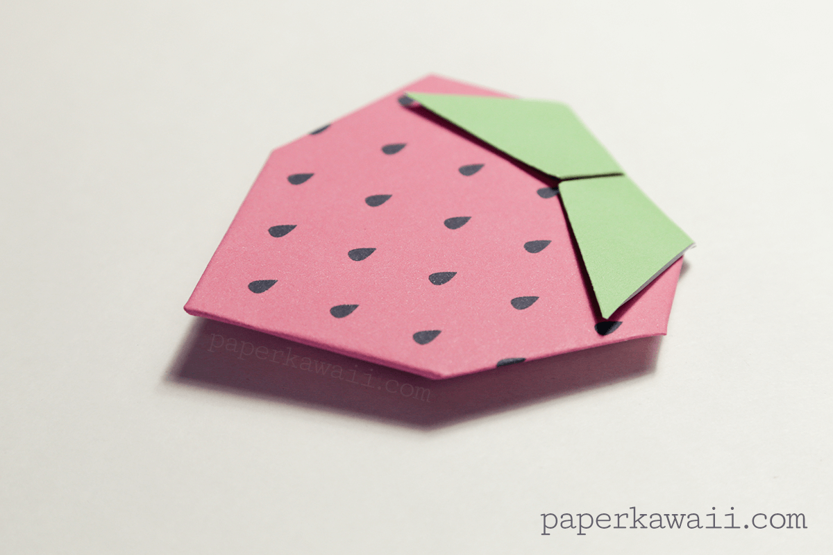 Origami Strawberry Tutorial Free Printable Paper Kawaii Advanced Fox Instructions Diagram A Photo Is Available On The Tutorials Page