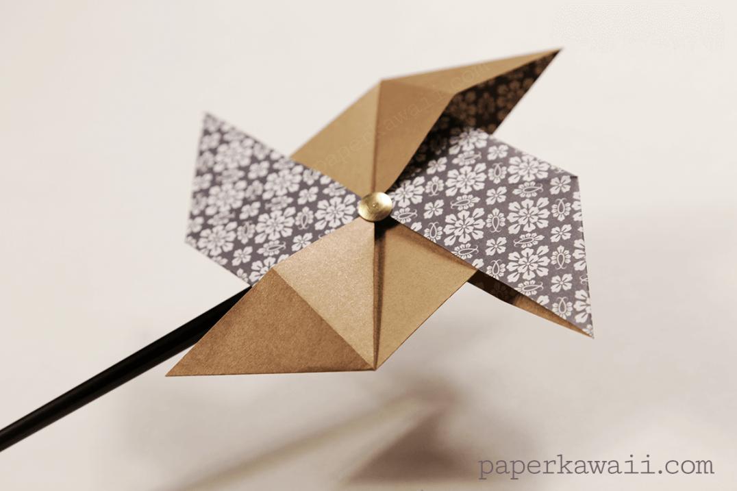 traditional origami pinwheel video tutorial paper kawaii
