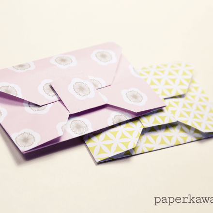 Origami Heart Envelope Video Tutorial via @paper_kawaii
