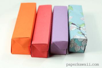 origami pencil box Video Tutorial #origami #box #tutorial #diy #crafts #pencilbox