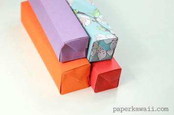 Origami Pencil Box Video Tutorial via @paper_kawaii