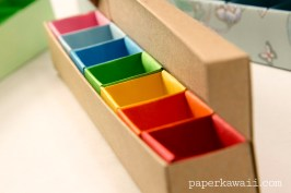 Origami Pill Box / Organizer Video Tutorial via @paper_kawaii