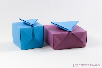 Origami Gatefold Box Instructions via @paper_kawaii