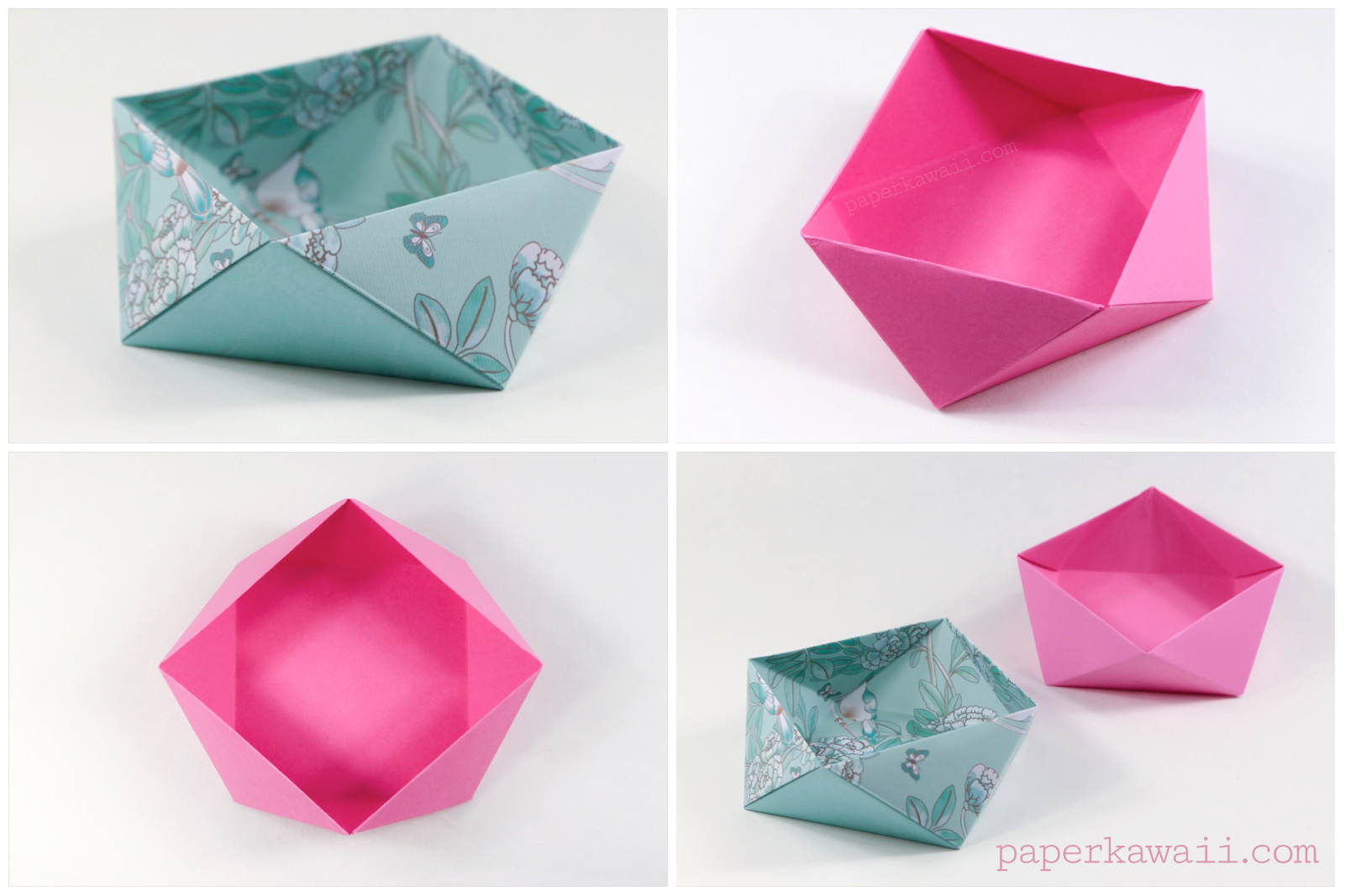A Photo Tutorial Is Available On The Origami Tutorials Page Traditional Square Bowl Box Instructions