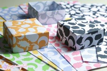 Halloween Printable Origami Paper via @paper_kawaii