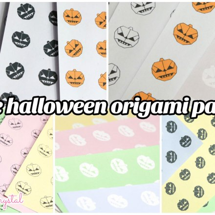 Halloween Printable Origami Paper via @paper_kawaii