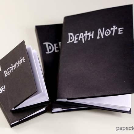 Death Note Origami Book Video Instructions via @paper_kawaii