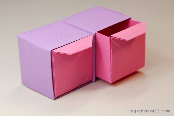 Origami Pull Out Drawers Tutorial