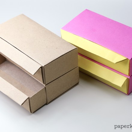 Origami Pull Out Drawers Instructions via @paper_kawaii