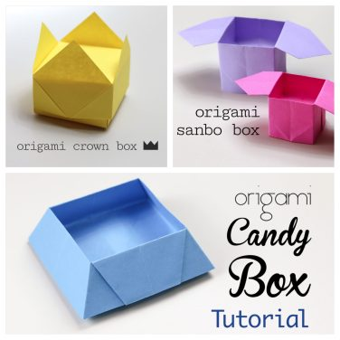 3 Easy Origami Boxes – Photo Instructions