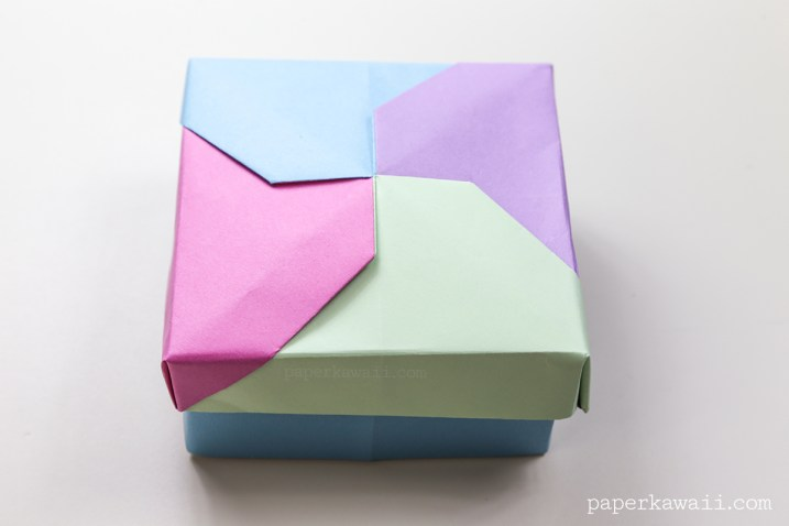 Modular Origami Masu Box Lid - 'Twist' via @paper_kawaii