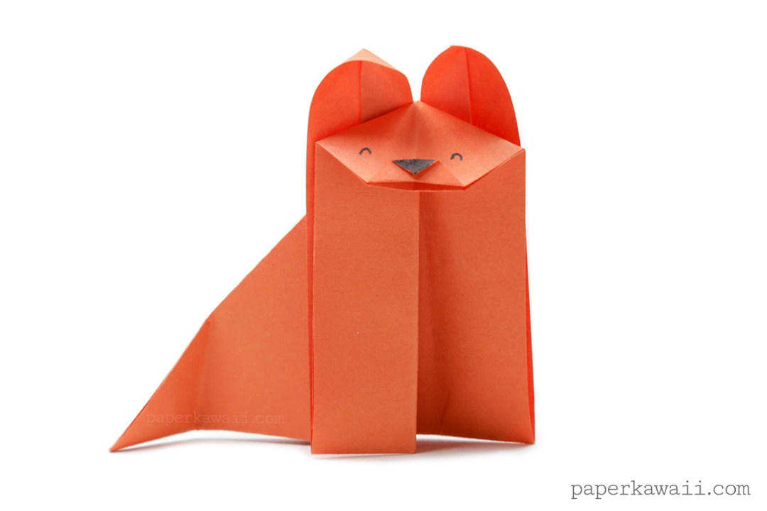 Easy cute origami fox instructions and diagram | 720x1080