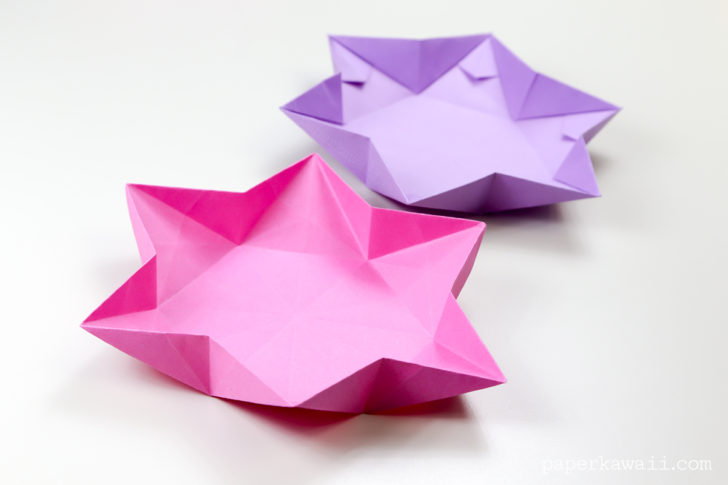 Learn how to make a hexagonal origami star dish