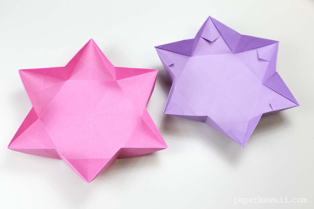 Hexagonal Origami Star Dish Bowl Instructions