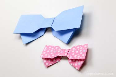 Origami Bow Instructions - Layered via @paper_kawaii
