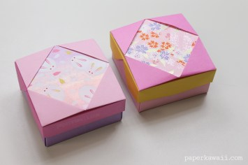 Origami Gift Box - Mix & Match Lids via @paper_kawaii