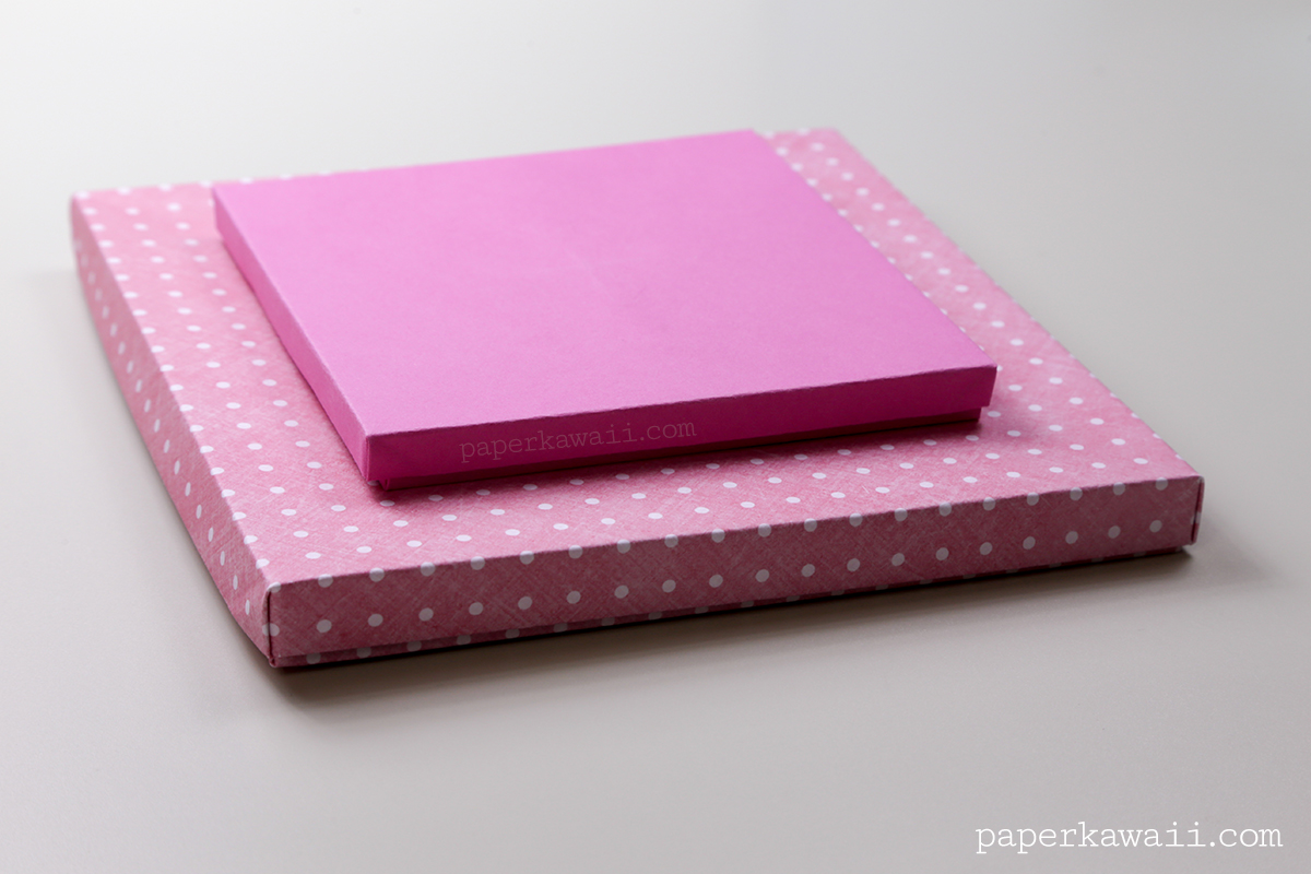 Origami Paper Storage Box Instructions via @paper_kawaii