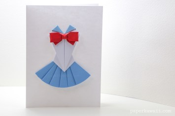 Origami Sailor Moon Dress Tutorial via @paper_kawaii