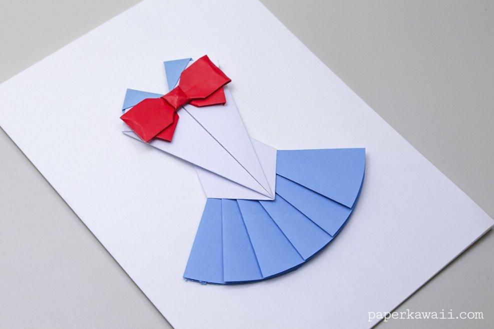 Origami Sailor Moon Dress Tutorial via @paper_kawaii