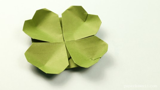 origami clover flower instructions #origami #diy #crafts #clover #flower