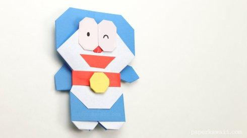 Origami Doraemon Tutorial via @paper_kawaii
