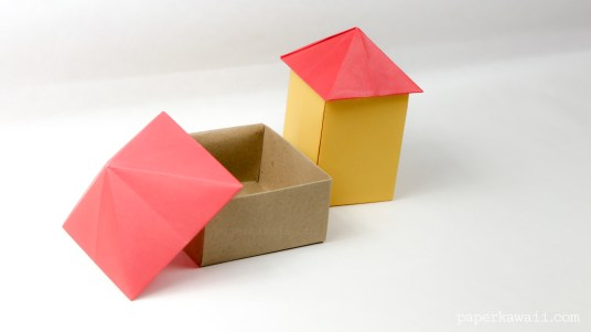 Origami Square Pyramid - House Lid via @paper_kawaii