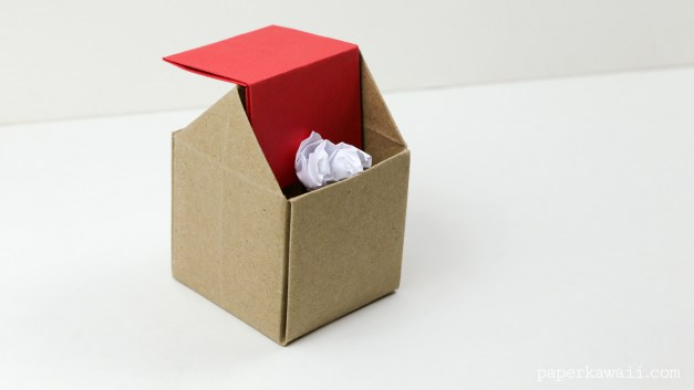 Origami Rubbish Bin Instructions