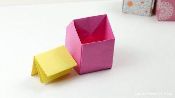 Origami Rubbish Bin Instructions via @paper_kawaii