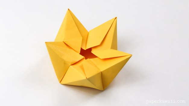 Origami Star / Flower / Crown Bowl Tutorial