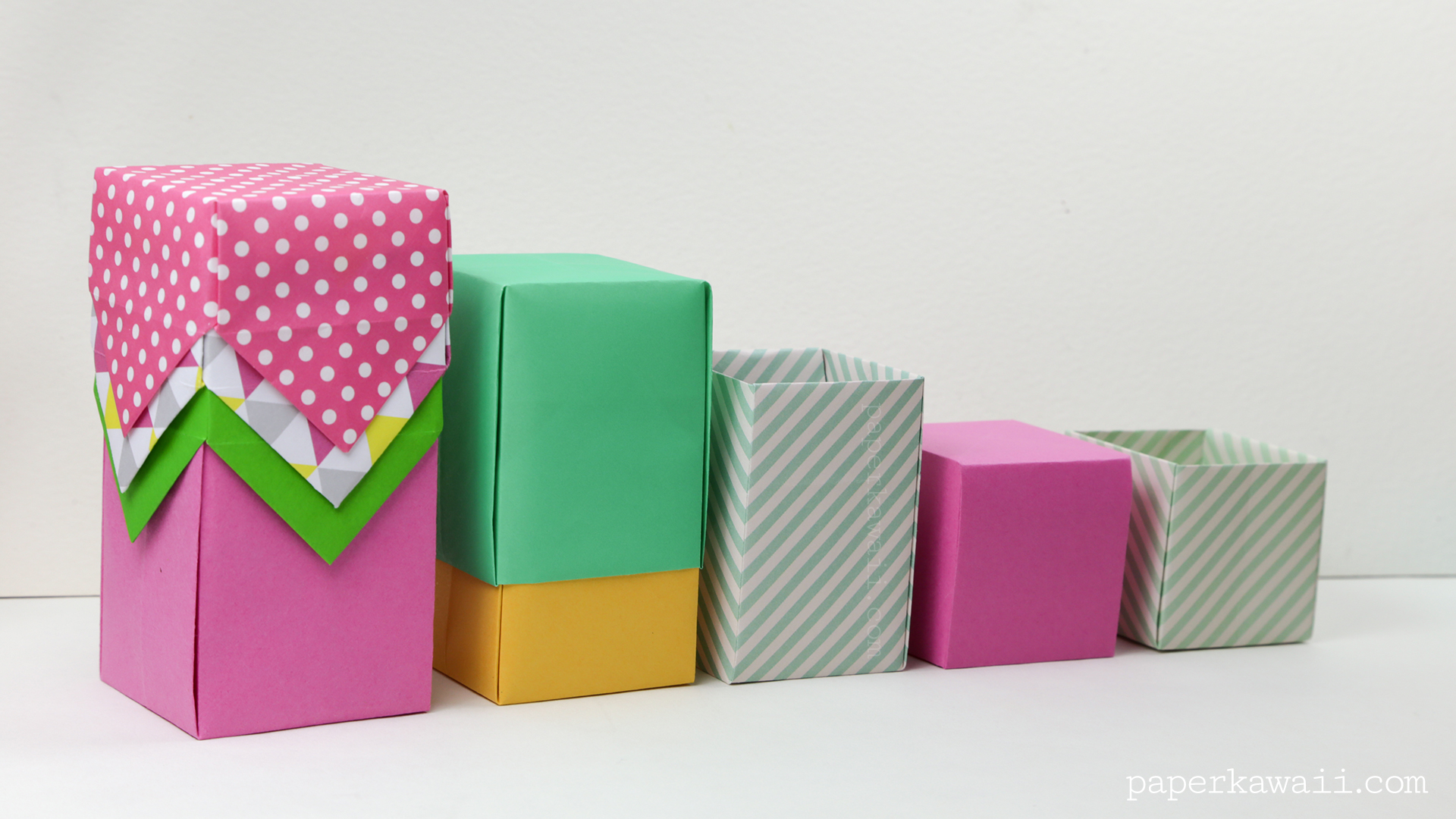 Final Size Will Depend Mine Ended Up Being 5 X 65 Cm Tall Origami Box