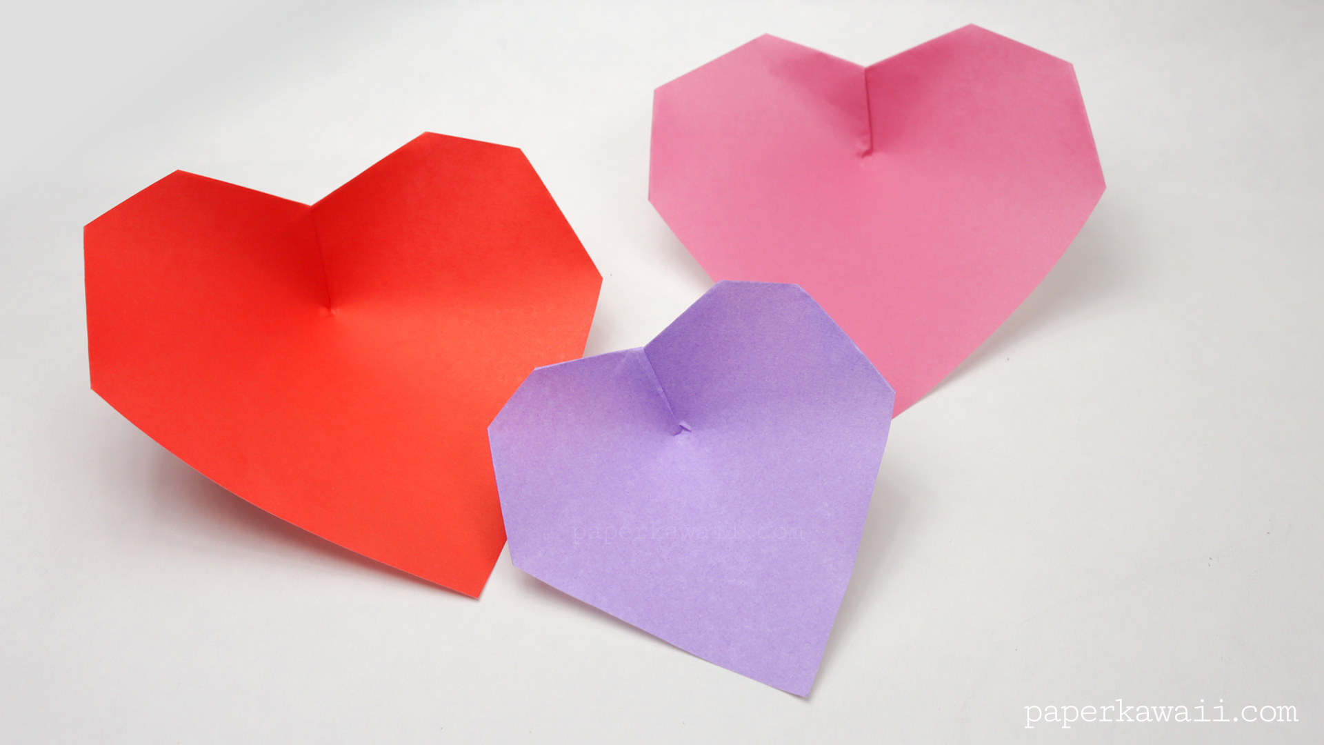 Super Easy Origami Heart Instructions - Paper Kawaii - photo#5