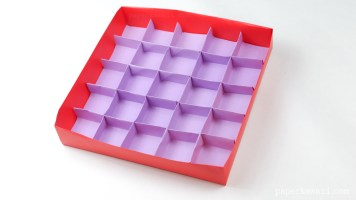 25 Section Origami Box Divider Instructions via @paper_kawaii
