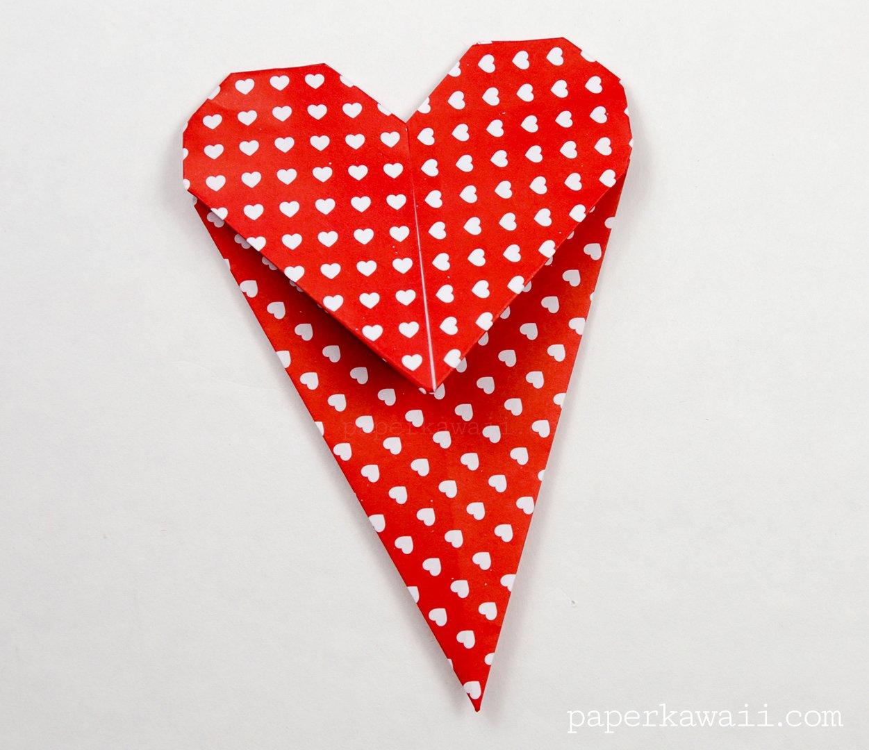 Origami Heart Bookmark Instructions via @paper_kawaii